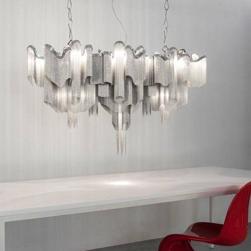 Modern elegant chain chandelier for villa