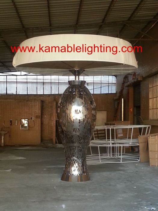 Graceful Stainless Steel hotel project floor lamp
