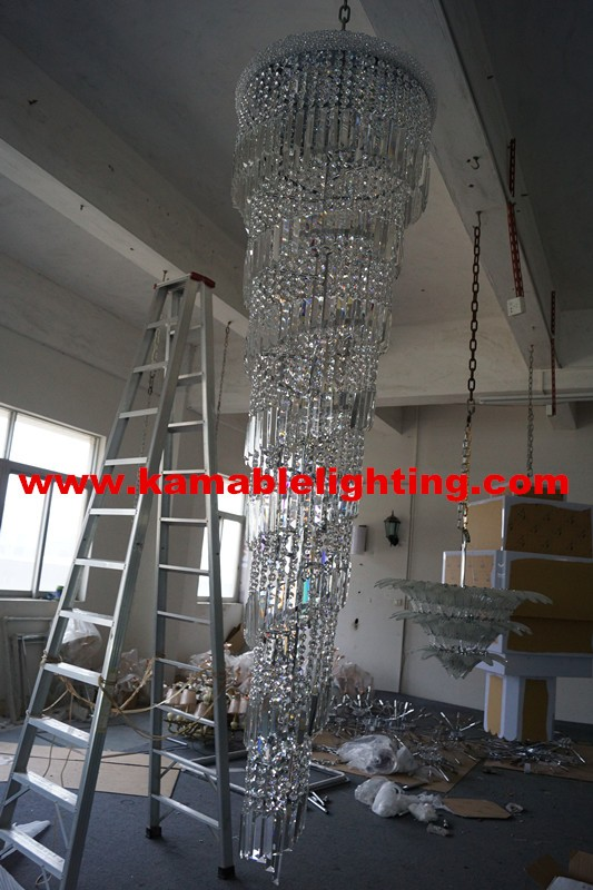 High quality luxury decorative hotel project light crystal for Luxury hotel project