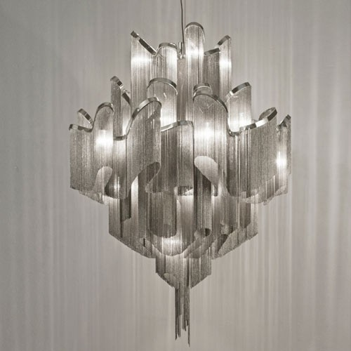 Hot sale modern suspension chain big chandelier for Designer lighting