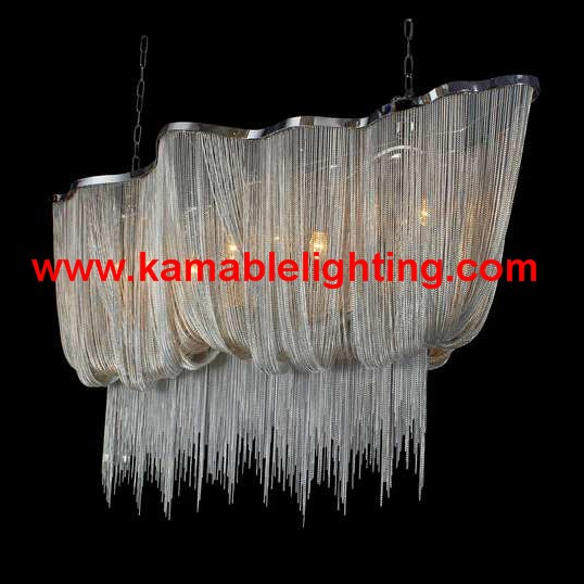 Modern Lighting.Silver Chain Pendant Lighting